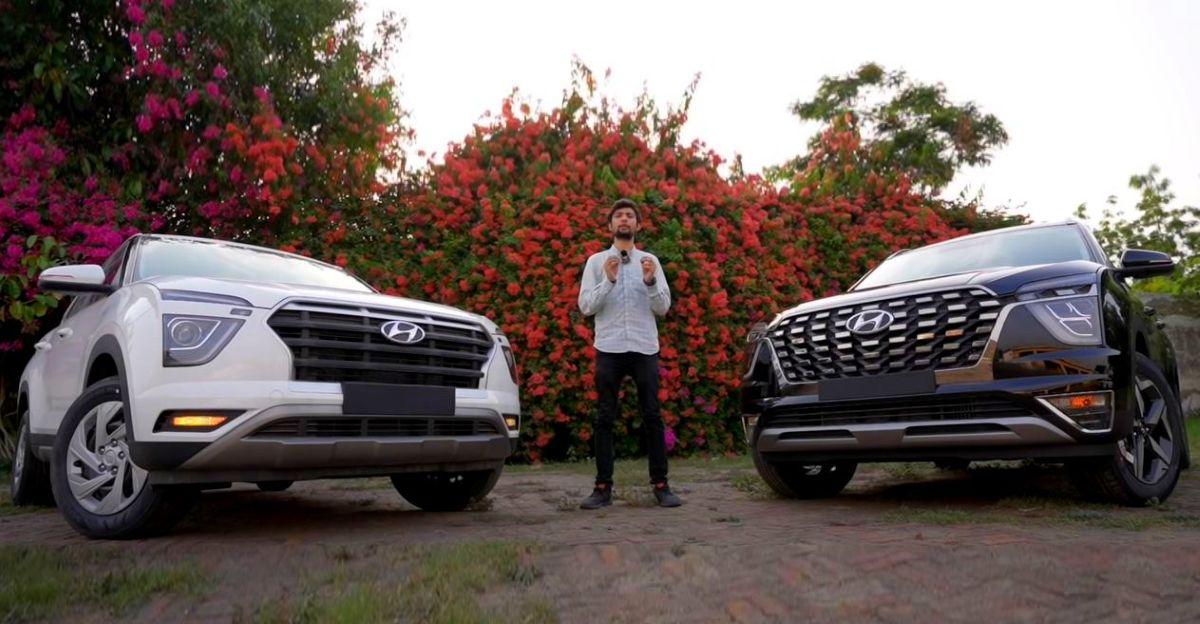 Hyundai Creta और Alcazar SUVs के बिच वीडियो में तुलना की गई