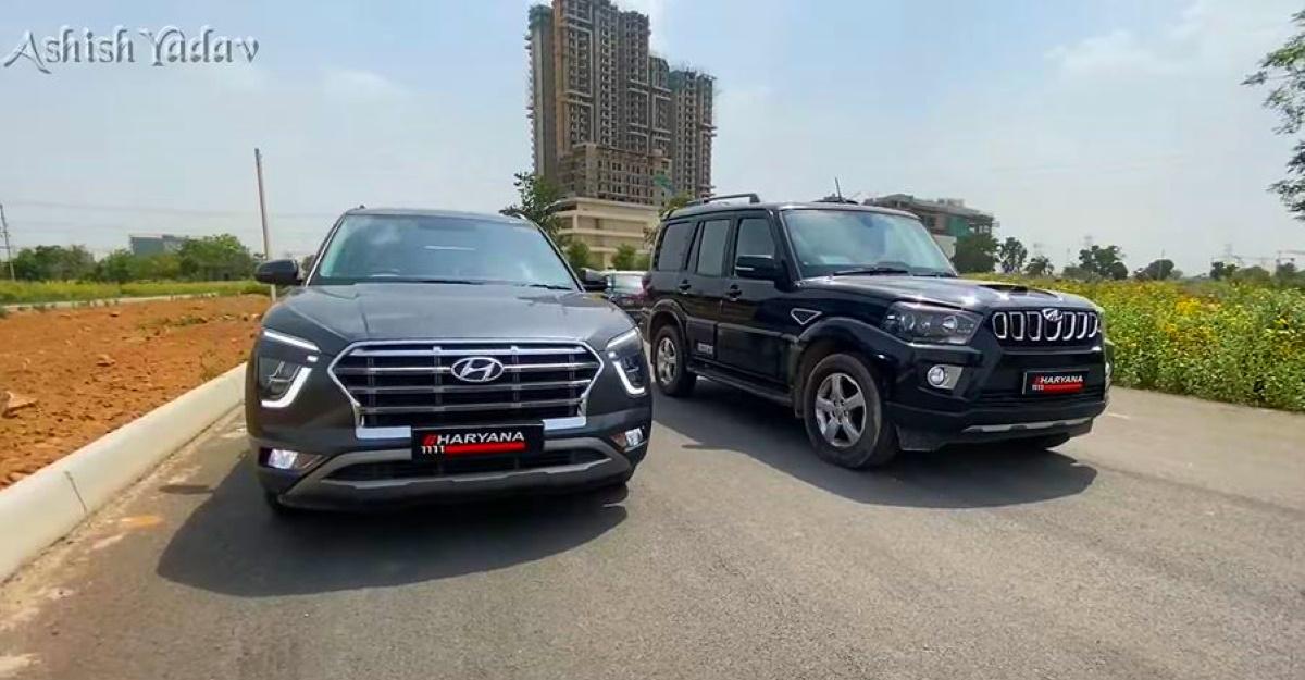 Hyundai Creta बनाम Mahindra Scorpio एक ड्रैग रेस में
