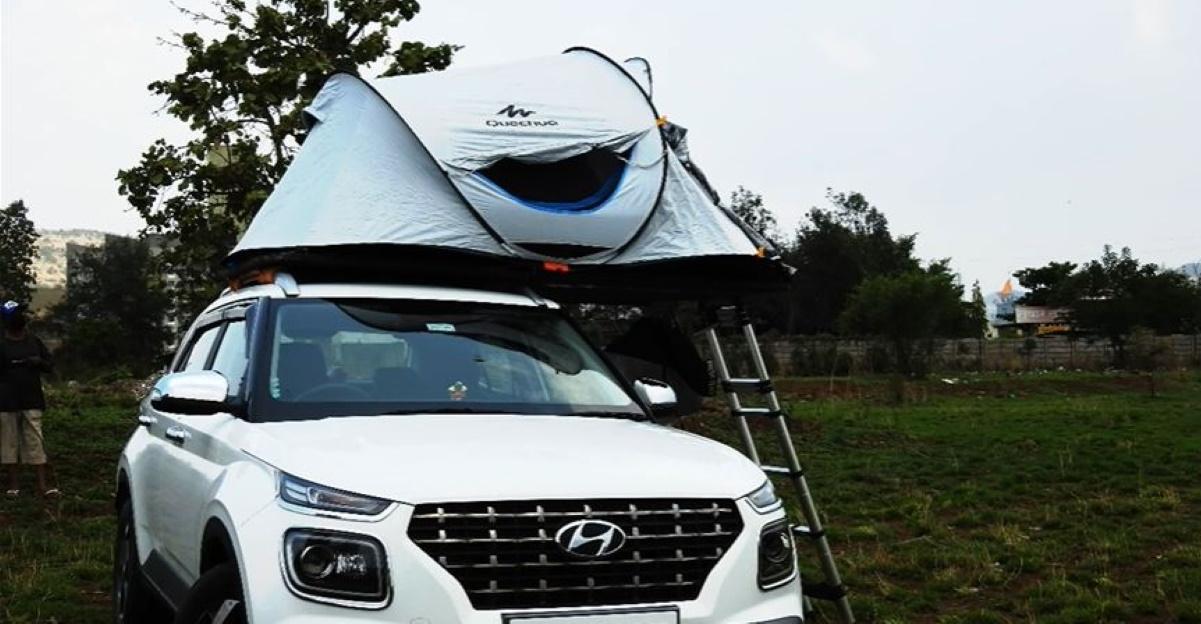 रूफ टॉप टेंट पाने वाली भारत की पहली Hyundai Venue कॉम्पैक्ट SUV