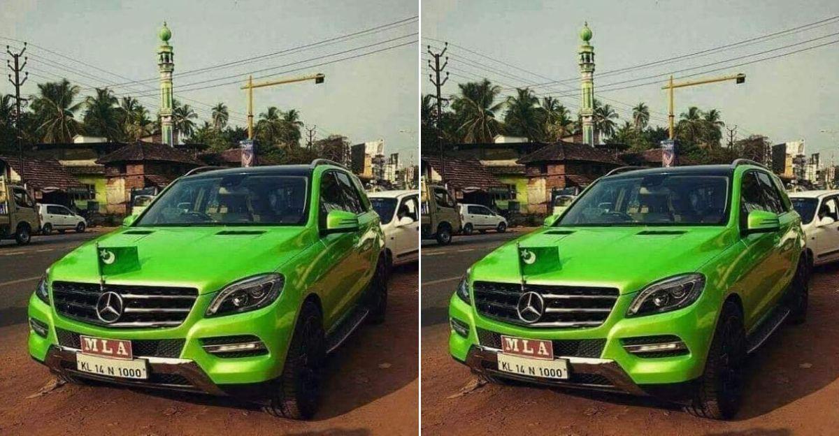 Kerala के विधायक की Mercedes Benz लग्जरी एसयूवी पर पाकिस्तान का झंडा? सच्चाई या प्रचार