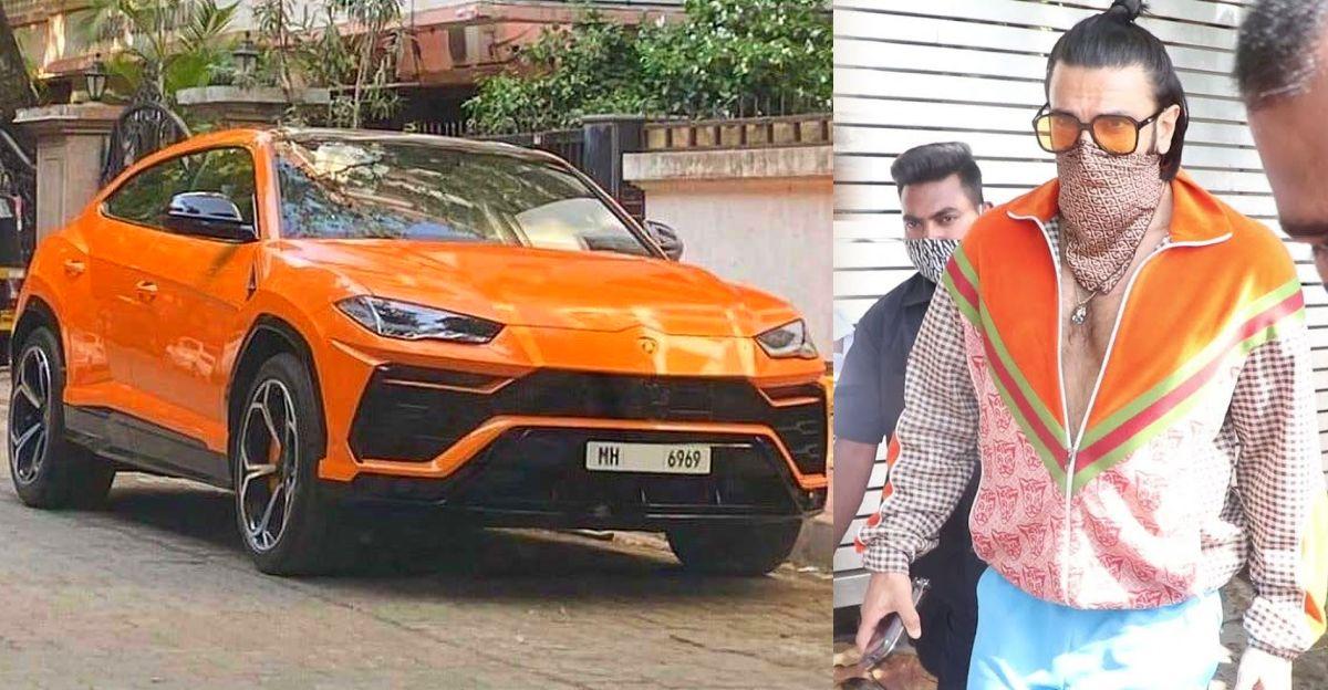 देखिए Ranveer Singh को उनकी बिल्कुल नई Lamborghini Urus SUV में!