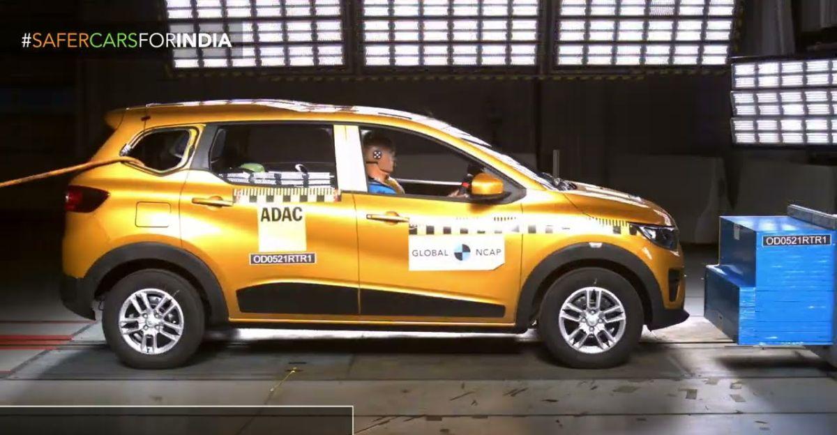 Renault Triber MPV को 4 स्टार ग्लोबल NCAP सुरक्षा रेटिंग मिली है!