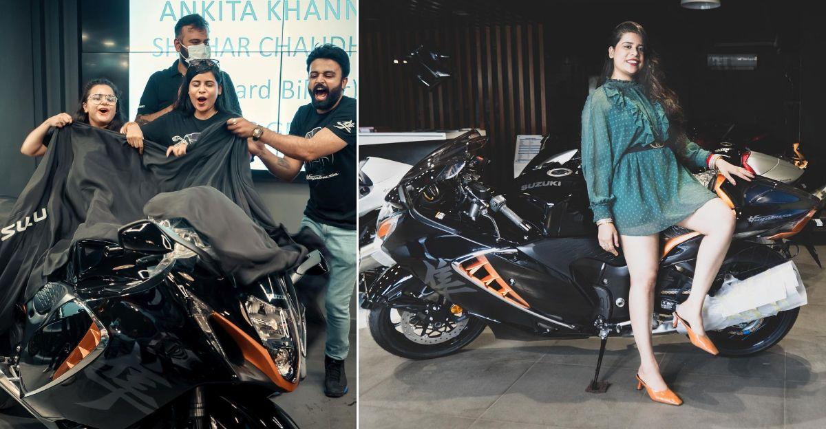 2021 Suzuki Hayabusa सुपरबाइक की भारत में डिलीवरी लेने वाली पहली महिला [वीडियो]