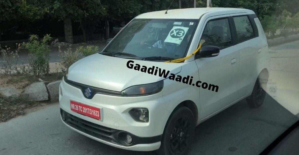Maruti Suzuki WagonR EV टेस्ट करते हुए नजर आई