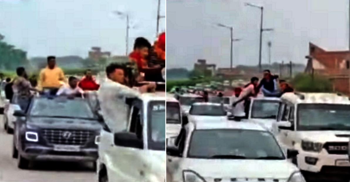 जेल से बाहर आने के बाद सपा नेता ने किया रोड शो: Audi SUV & 23 अन्य कारें जब्त