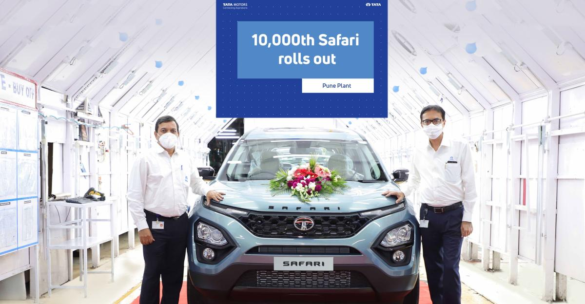 Tata Motors ने उत्पादन लाइन से 10,000वीं Safari शुरू की