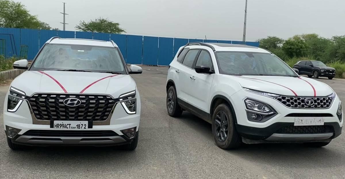 ड्रैग रेस में Tata Safari और Hyundai Alcazar डीज़ल SUV