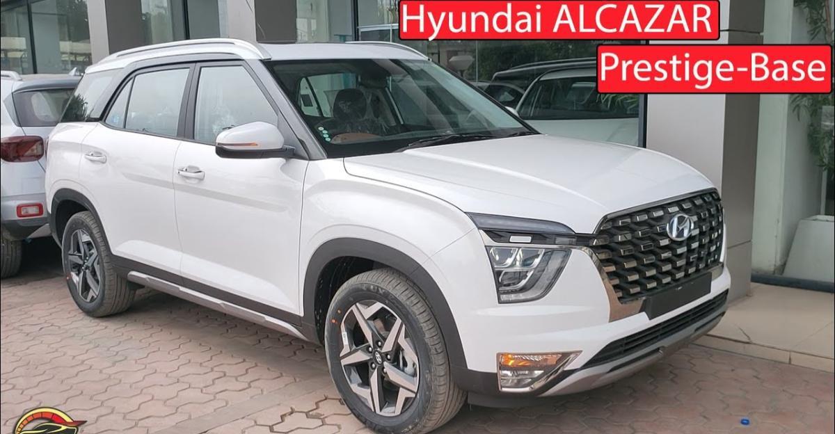 Hyundai Alcazar बेस प्रेस्टीज वैरिएंट: यह क्या ऑफर करती है