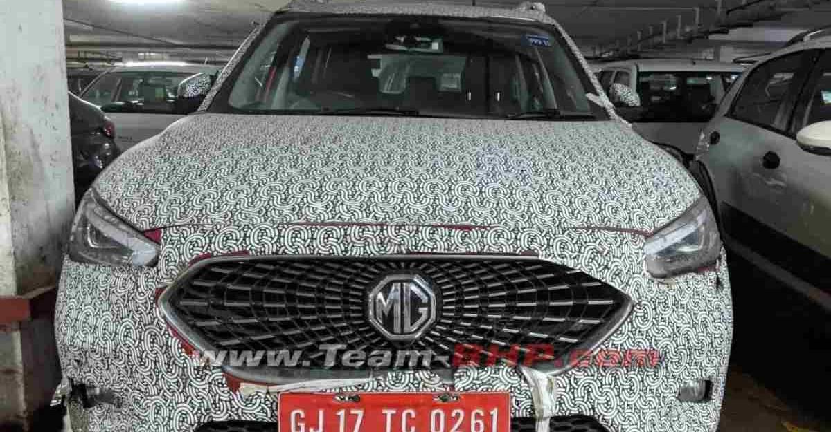 MG Astor (Creta-प्रतिद्वंद्वी) ZS EV का पेट्रोल संस्करण है; देखी गई तस्वीरों में सामने आया केबिन