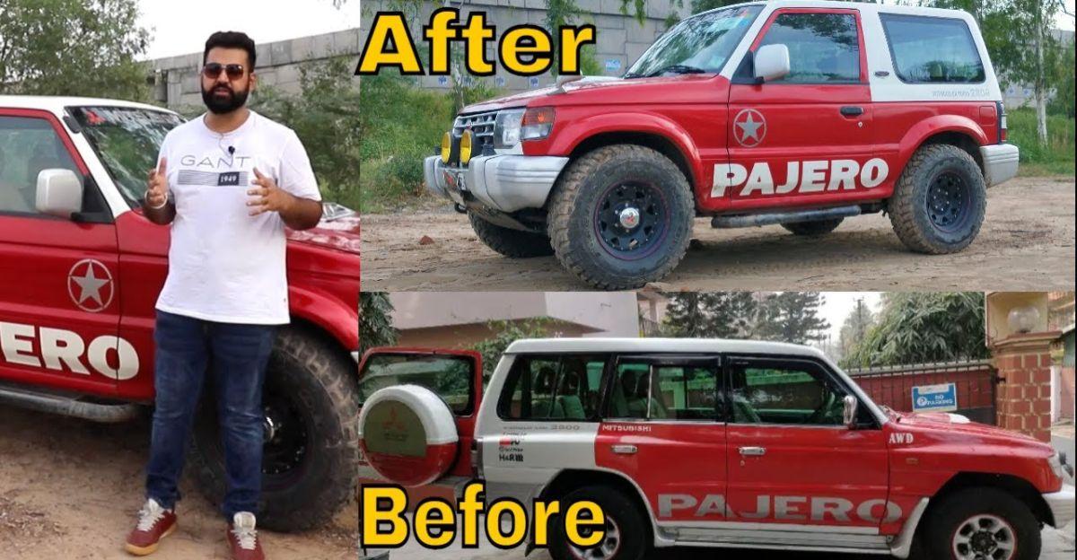 Mitsubishi Pajero SFX को Pajero Short Wheelbase SUV में सफाई से बदला गया