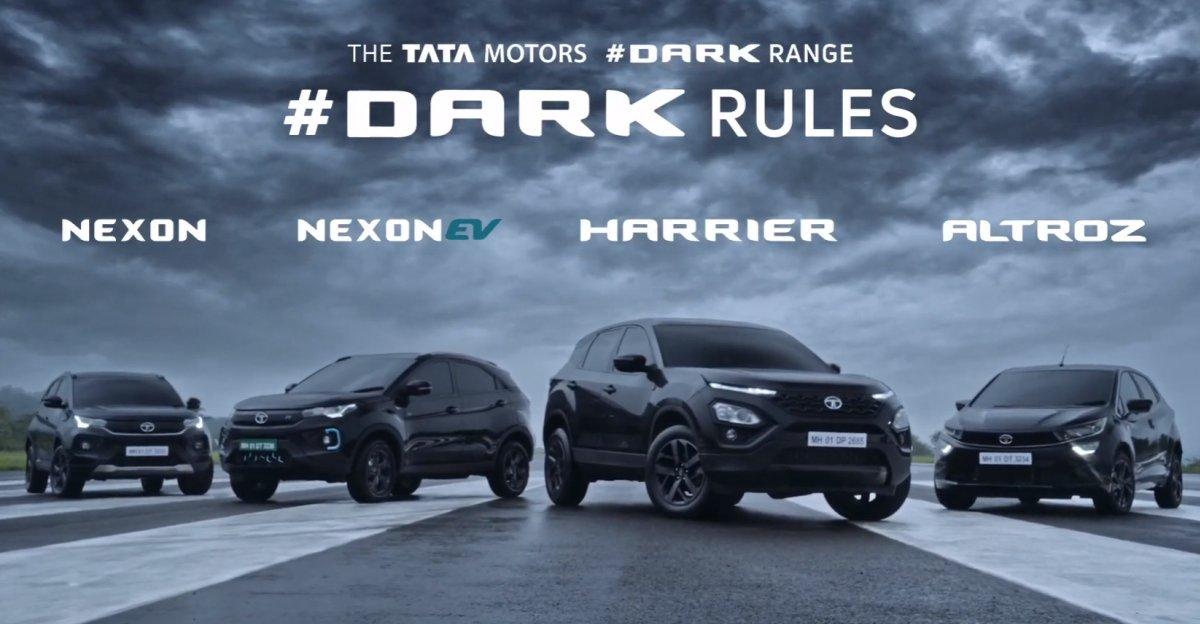 Tata Motors ने Nexon, Harrier, Nexon EV और Altroz के डार्क एडिशन लॉन्च किए