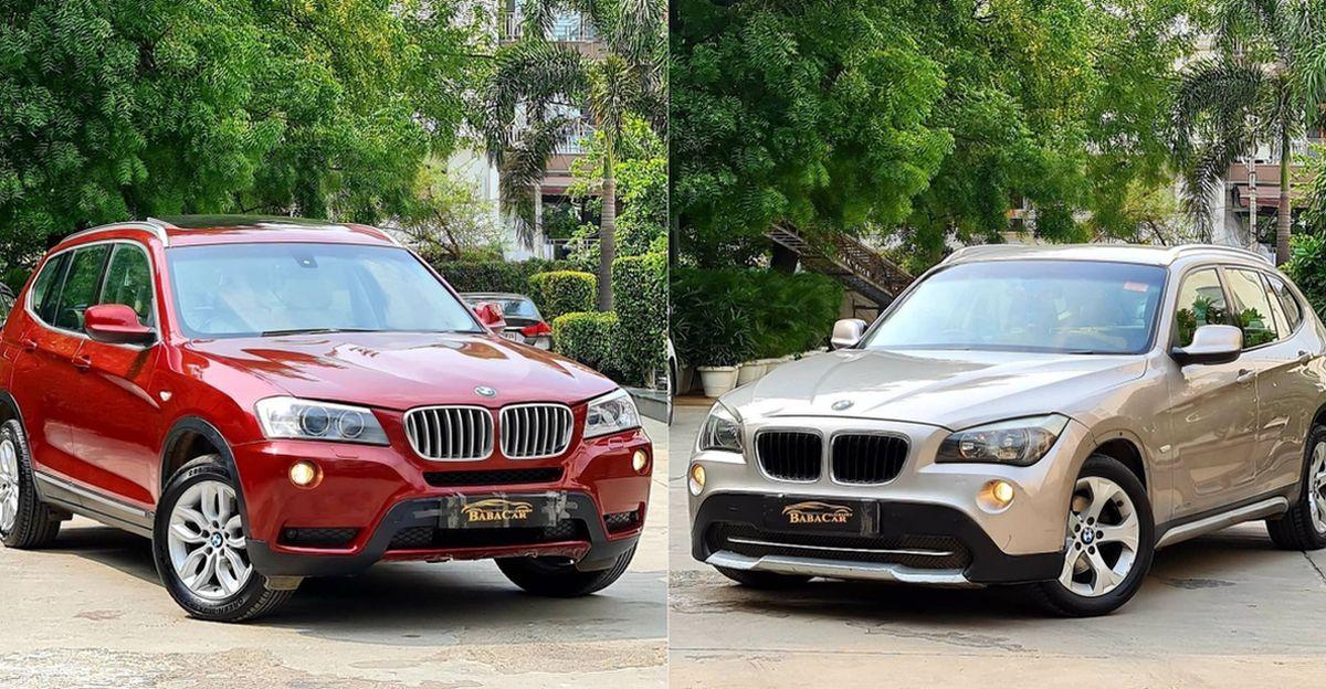 अच्छी तरह से रखरखाव, इस्तेमाल की गई BMW X1 और X3 लक्ज़री SUV 10 लाख रुपये से कम में बिक रही हैं