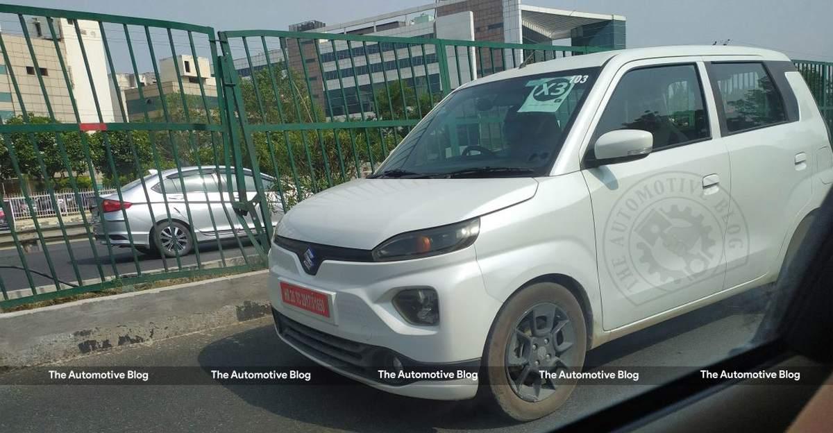 Maruti Suzuki WagonR EV बिना किसी छलावरण के परीक्षण करते हुए देखी गई