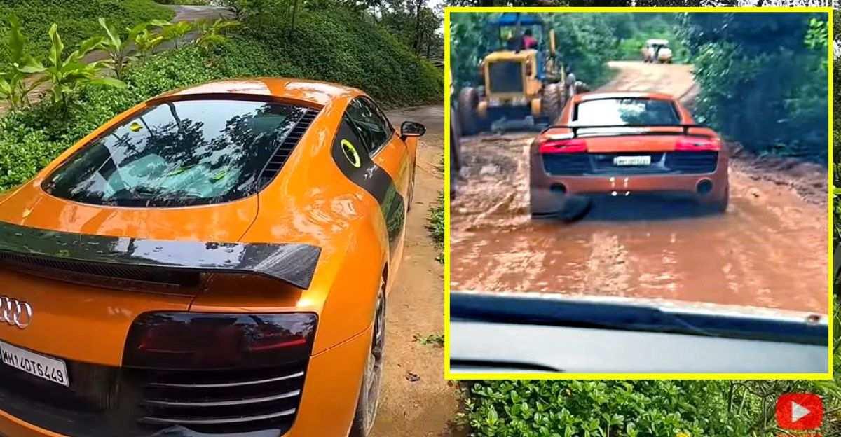 जब आप Audi R8 Supercar को ऑफ-रोड लेते हैं तो क्या होता है?