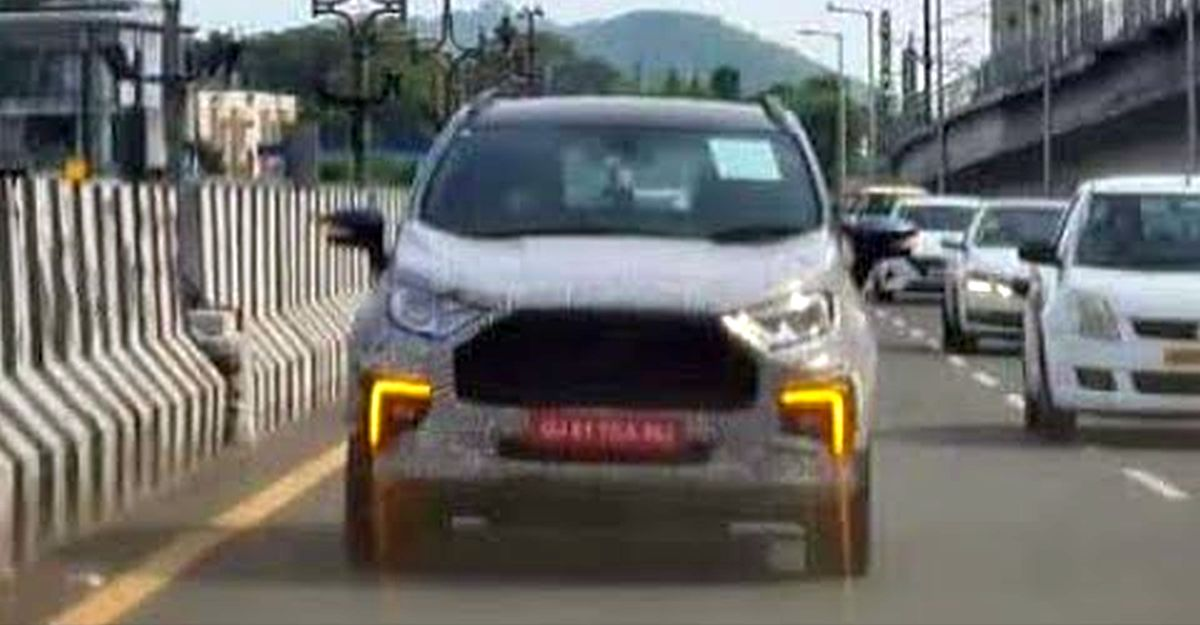 Ford EcoSport फेसलिफ्ट: नई देखी गई वीडियो डुअल फंक्शन LED DRLs दिखाता है