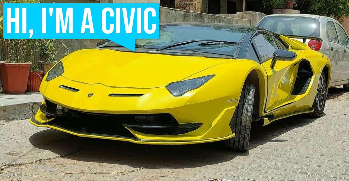 यह Lamborghini Aventador SVJ वास्तव में एक Honda Civic है