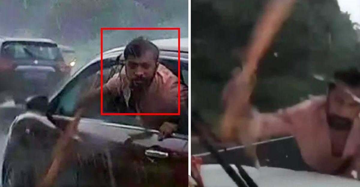 Maruti Ertiga में पुरुषों ने Mahindra Scorpio को रोका : बेसबॉल बैट से विंडस्क्रीन तोड़ें