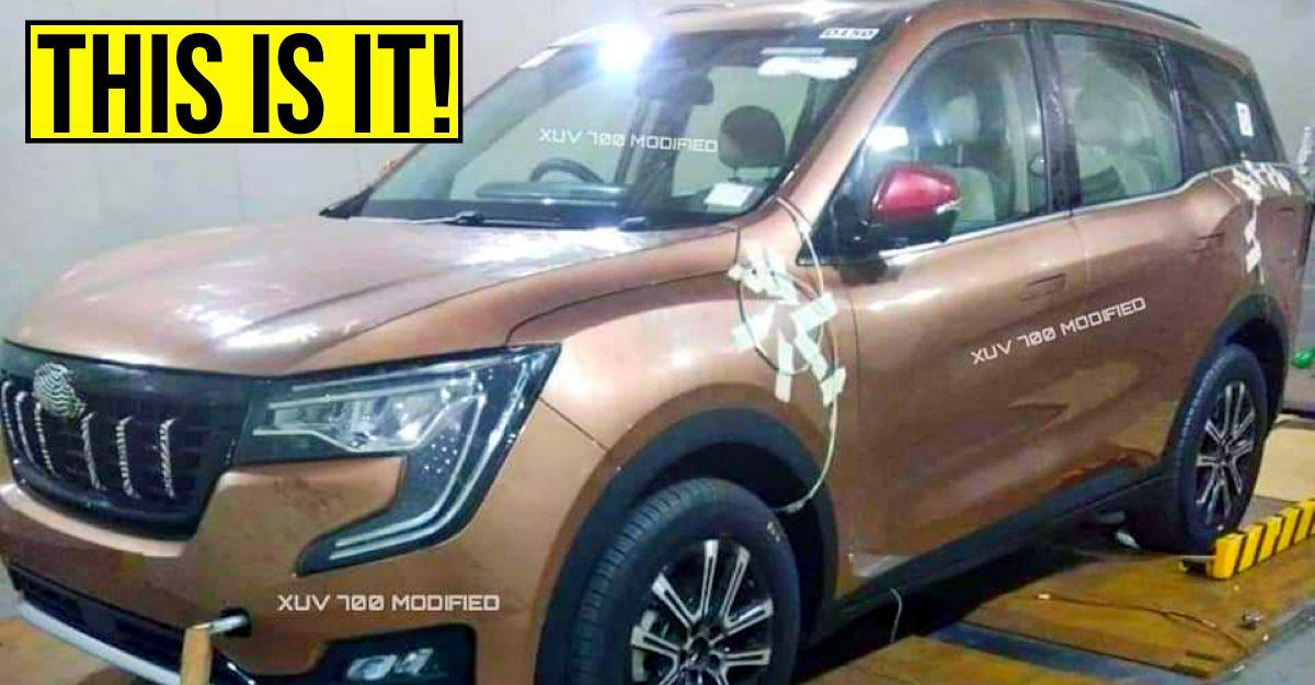 आगामी Mahindra XUV700 7 सीट SUV लीक तस्वीरों से आई सामने