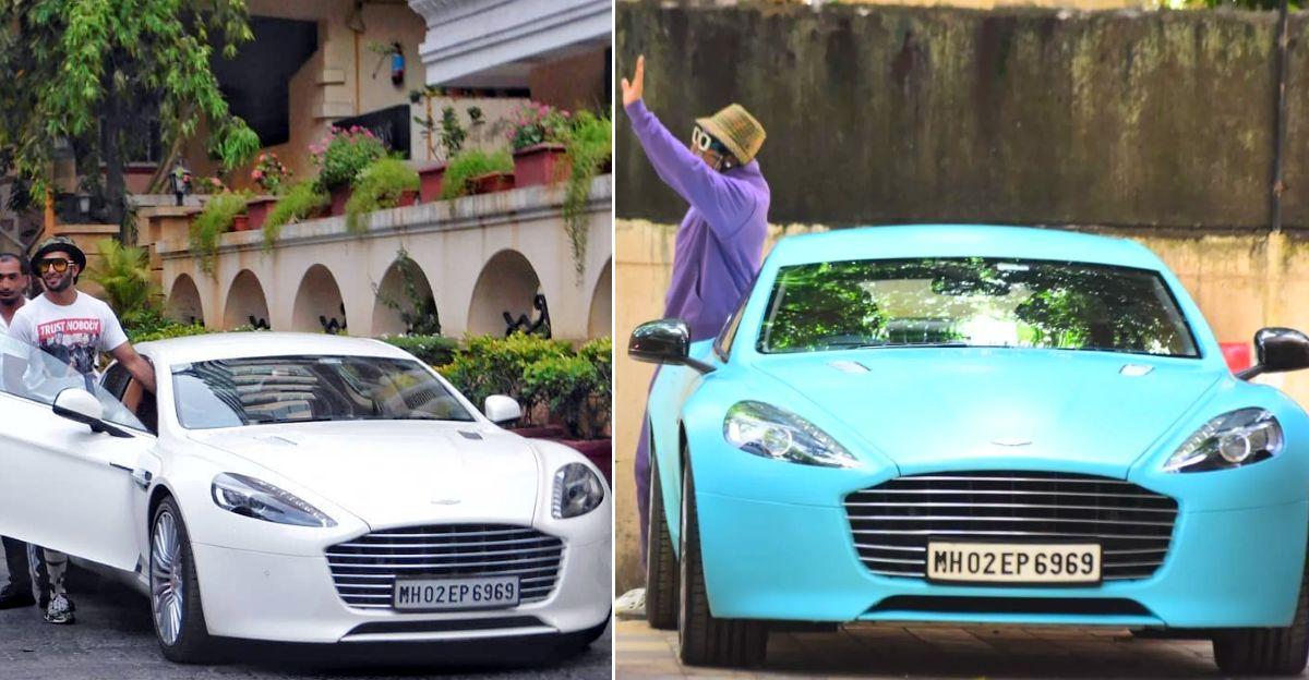 रणवीर सिंह ने अपनी Aston Martin Rapide स्पोर्ट्सकार wrap करायी