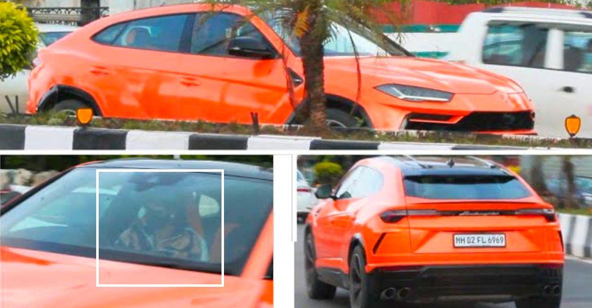 वीकेंड ड्राइव पर रणवीर सिंह अपनी Lamborghini Urus निकालते हैं