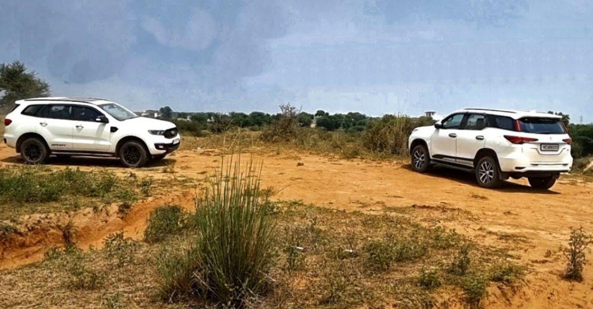 ऑफ-रोड टेस्ट में Ford Endeavour Sport बनाम Toyota Fortuner