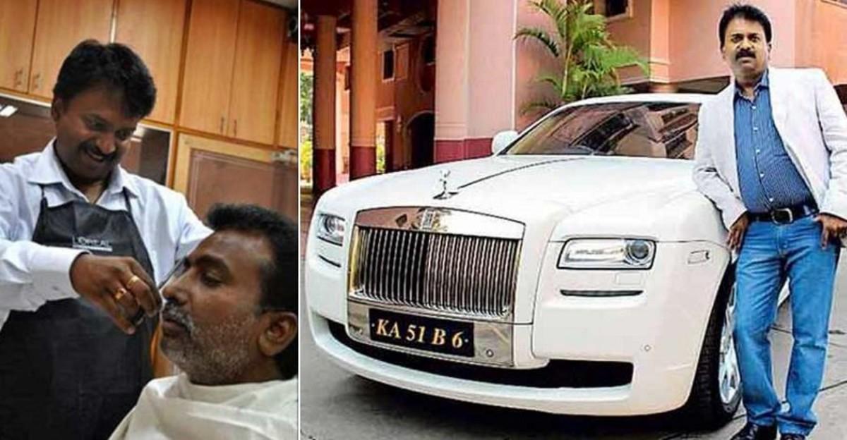 इस भारतीय नाई के पास Rolls Royce Ghost और कई अन्य कारें हैं: उन्होंने यह कैसे किया?