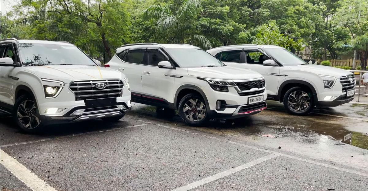 Hyundai Creta E और Kia Seltos HTE वैरिएंट सफाई से टॉप-एंड ट्रिम्स में संशोधित