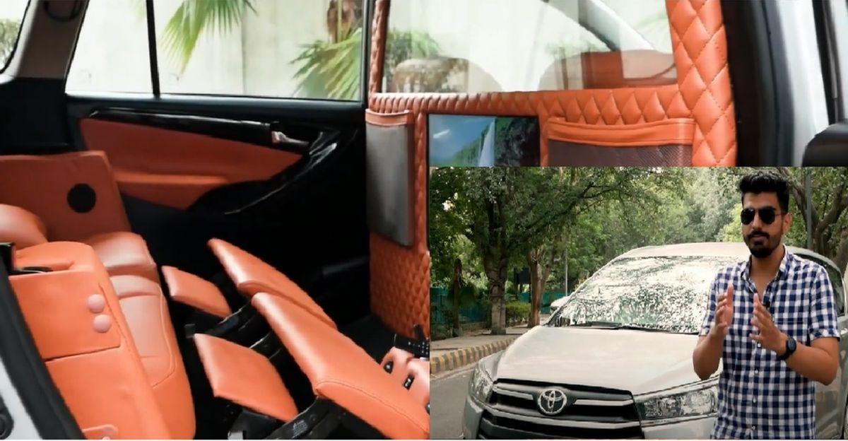 Garage 100 द्वारा Toyota Innova Crysta संशोधित इंटीरियर के साथ एक प्रीमियम लाउंज की तरह दिखता है