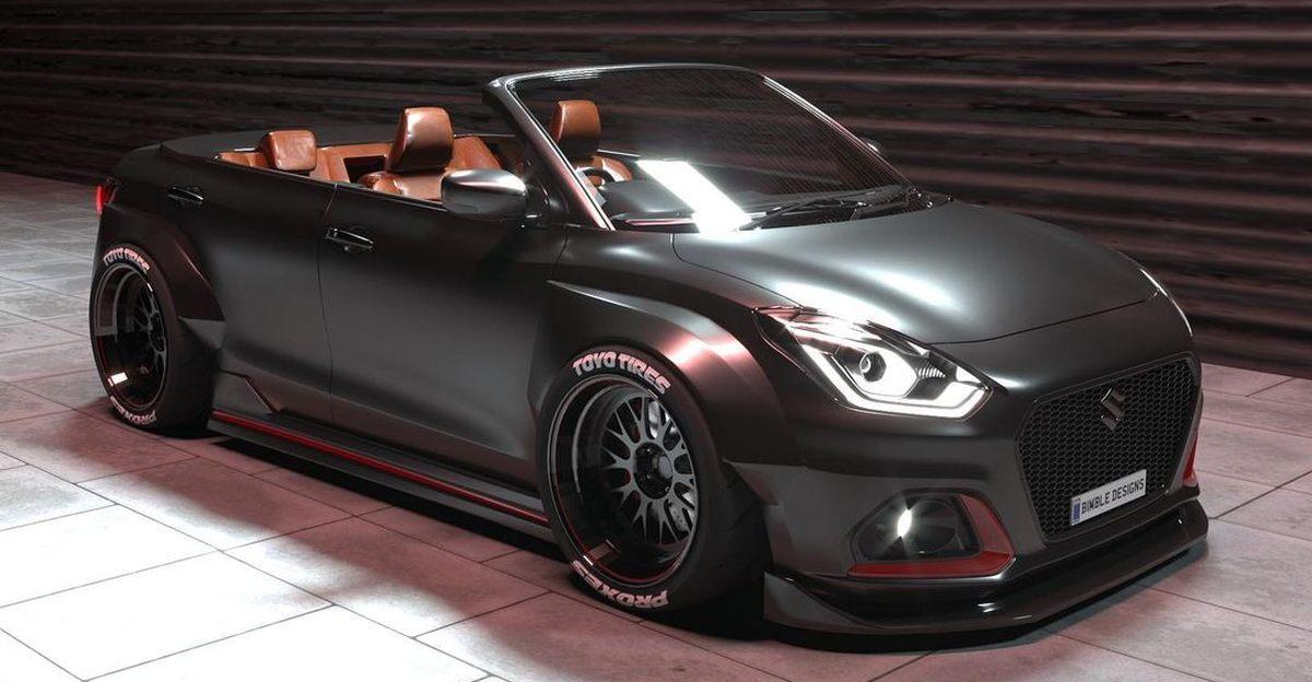 Maruti Suzuki Dzire की Cabriolet के रूप में फिर से कल्पना की गई