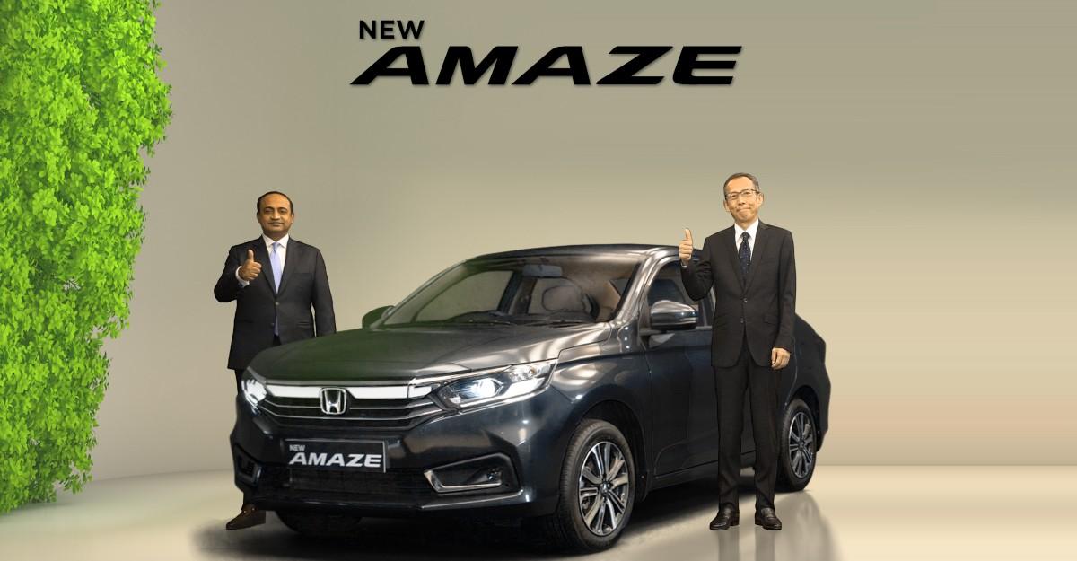 Honda Amaze फेसलिफ्ट 8.22 लाख रुपये में लॉन्च