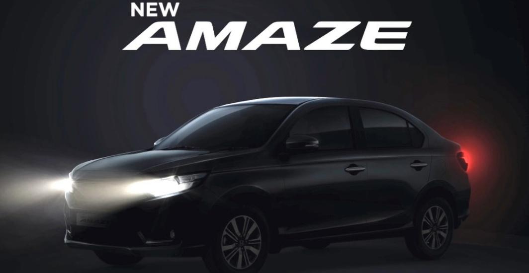 Honda Amaze Facelift के टॉप-एंड वेरिएंट को लॉन्च से पहले देखा गया