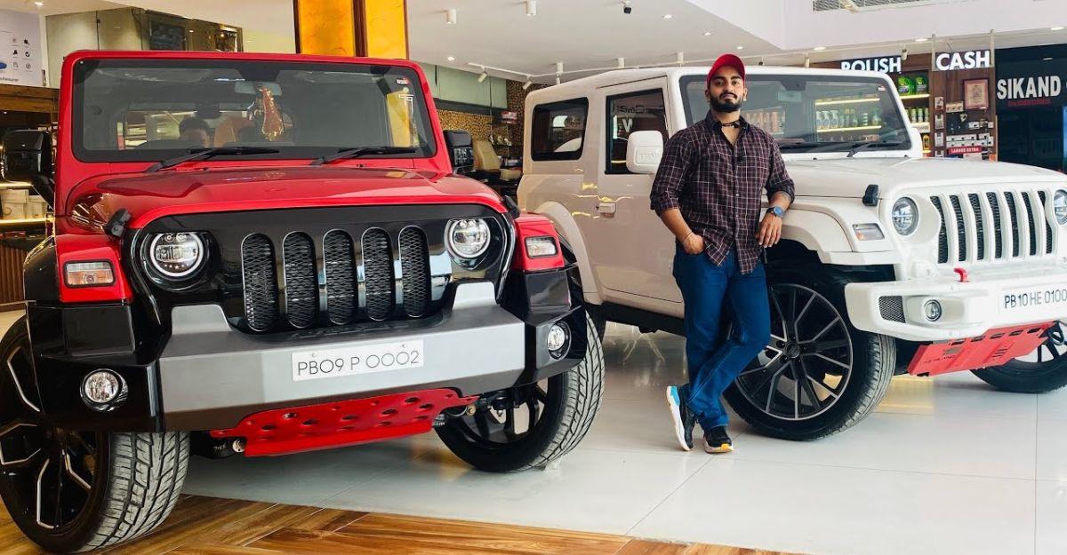 Sikand Car द्वारा संशोधित की गई Mahindra Thar SUVs अनोखी दिखती है