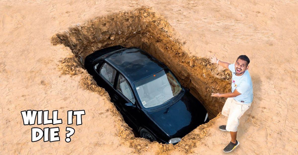 क्या होता है जब एक कार दफन हो जाती है?