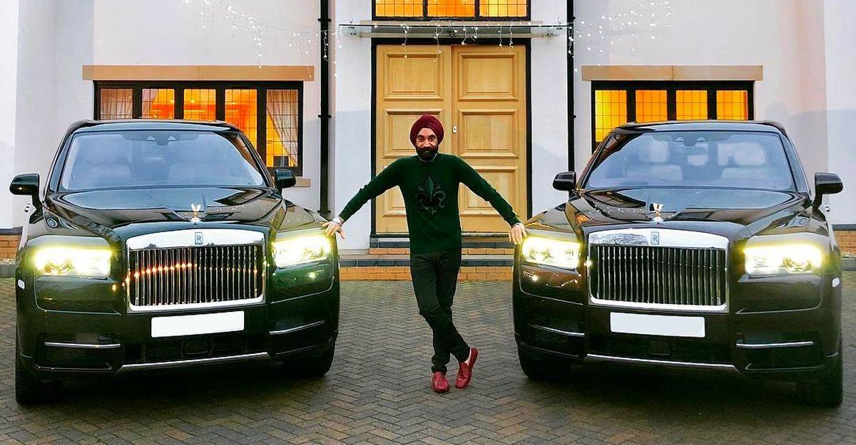 Rolls Royce-जुनून सवार अरबपति सरदार के पास हर पगड़ी के रंग के लिए Rolls Royce है