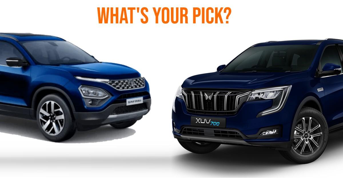 Mahindra XUV700 और Tata Safari SUVs की तुलना