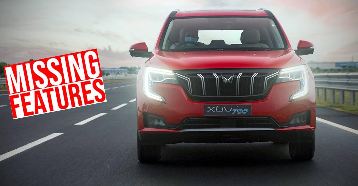 नई Mahindra XUV700 SUV में गायब 5 फीचर्स