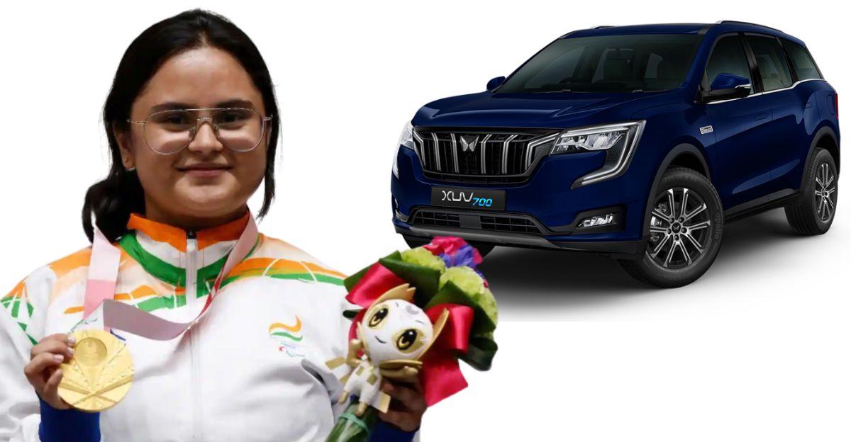 आनंद महिंद्रा ने पैरालंपिक गोल्ड मेडलिस्ट अवनि लेखारा को कस्टम मेड XUV700 SUV उपहार में दी