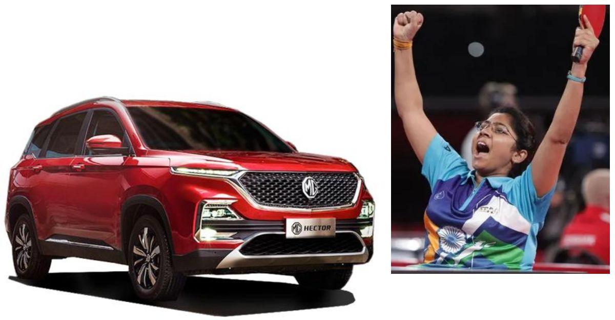 MG Motor India पैरालिंपियन भाविना पटेल को विशेष रूप से अनुकूलित SUV उपहार में देगी