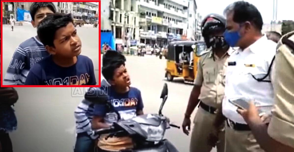 पुलिस ने इलेक्ट्रिक स्कूटर पर बिना लाइसेंस के नाबालिग सवार को रोका: आत्मविश्वास से भरे बच्चे ने पुलिस को समझाया [वीडियो]