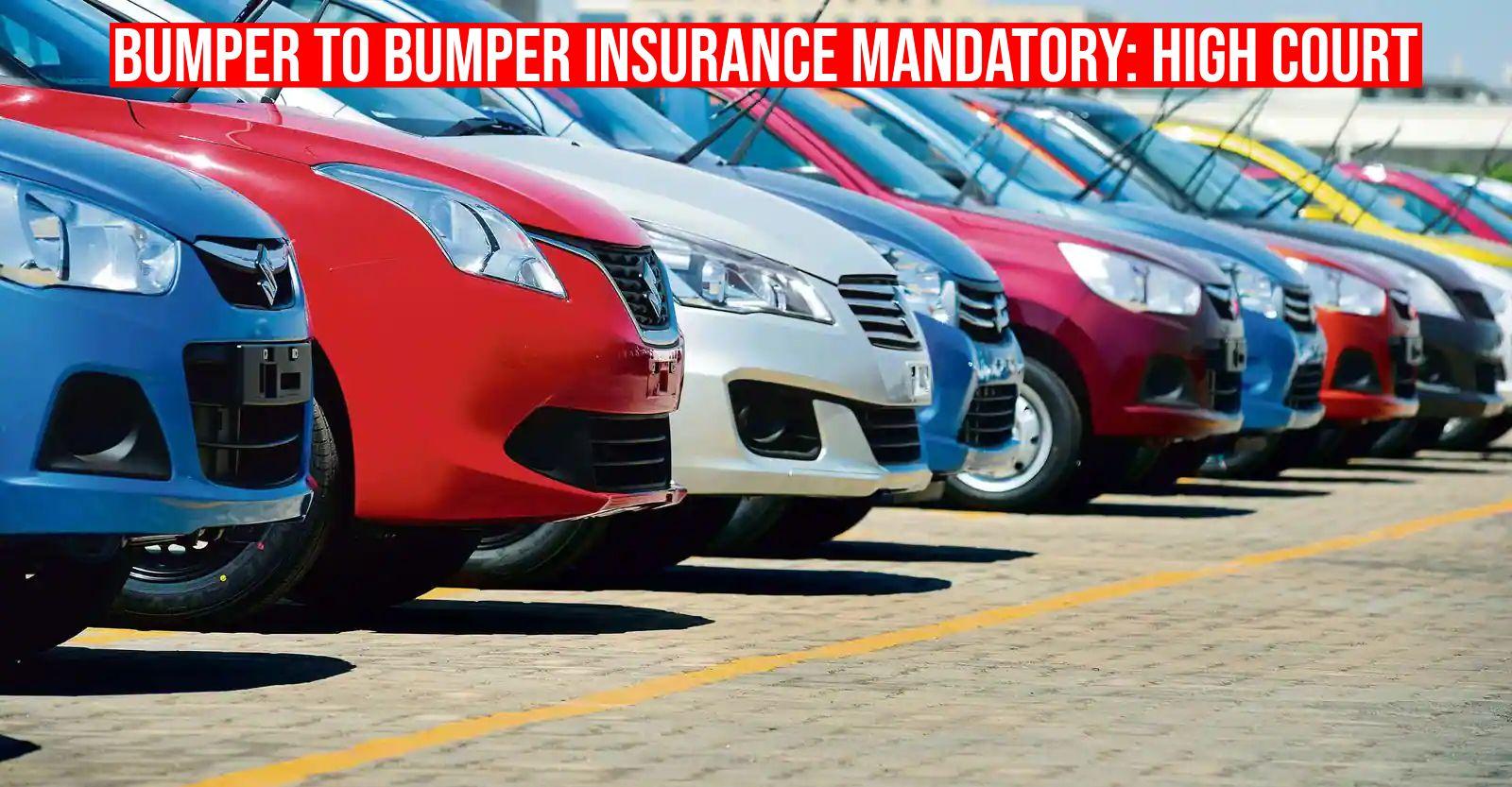 नए वाहनों के लिए 5 साल का बंपर-टू-बंपर बीमा अनिवार्य: मद्रास हाईकोर्ट