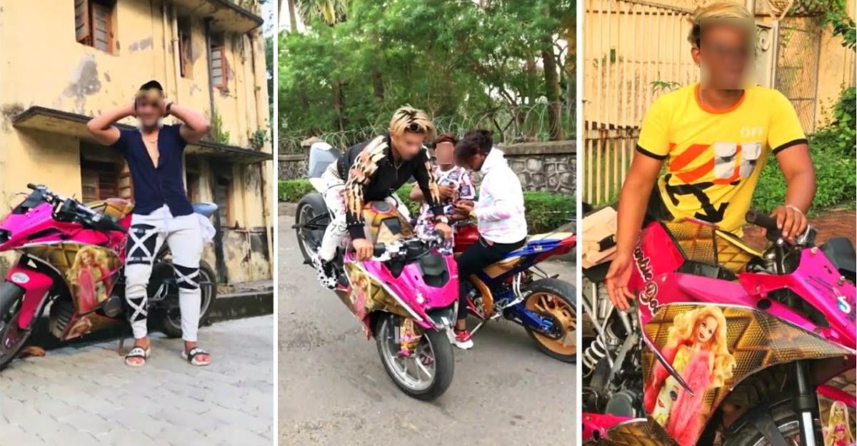 मुंबई पुलिस ने सार्वजनिक सड़कों पर स्टंट करने के लिए Barbie-थीम KTM राइडर के खिलाफ मामला दर्ज किया