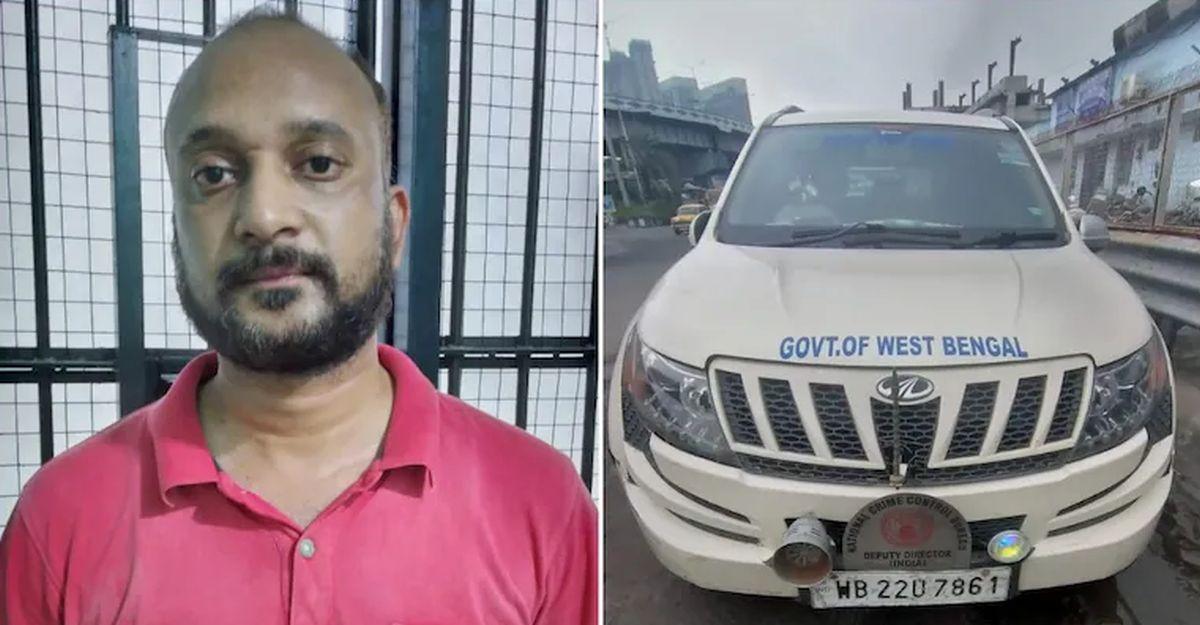 Mahindra XUV500 का सायरन बजने के बाद पुलिस ने नकली सरकारी अधिकारी को पकाड़ा