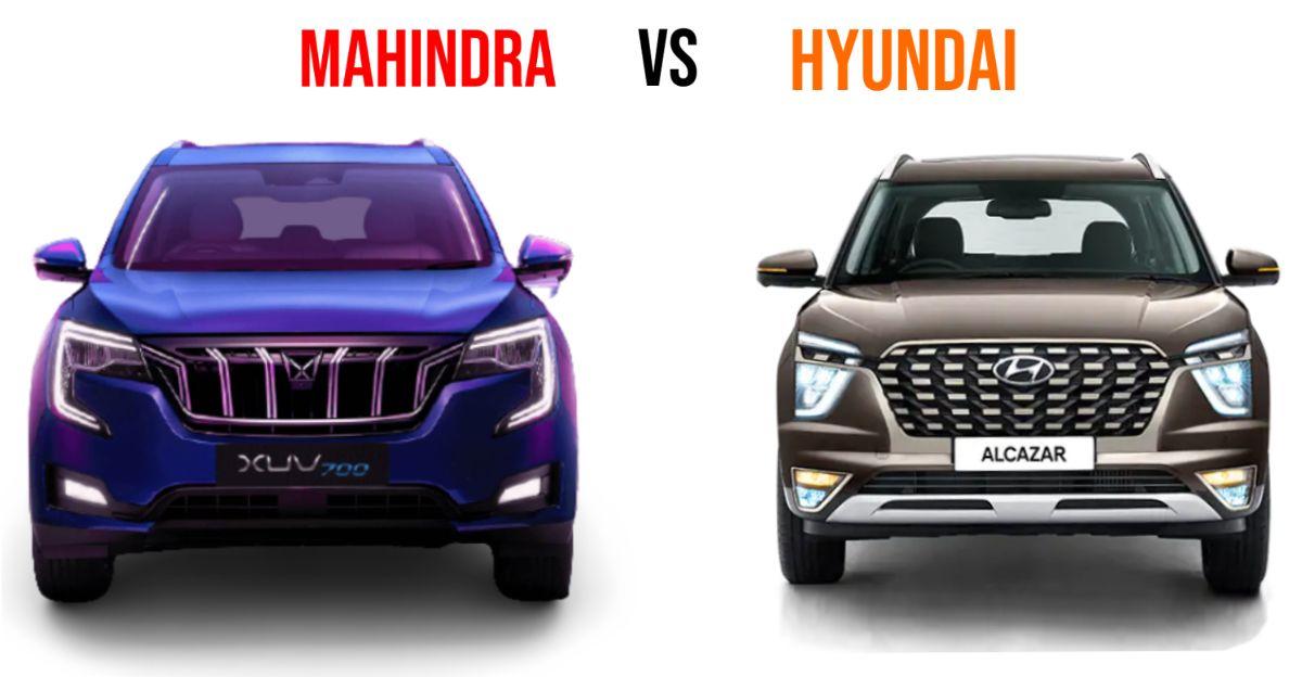 Mahindra XUV700 बनाम Hyundai Alcazar: विशिष्ट तुलना