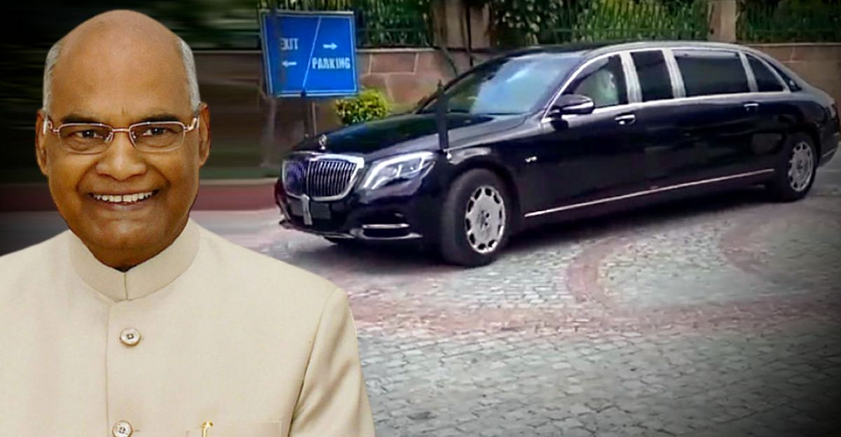 राष्ट्रपति रामनाथ कोविंद को स्वतंत्रता दिवस से पहले एक बिल्कुल नई Mercedes-Maybach S600 Pullman Guard मिली
