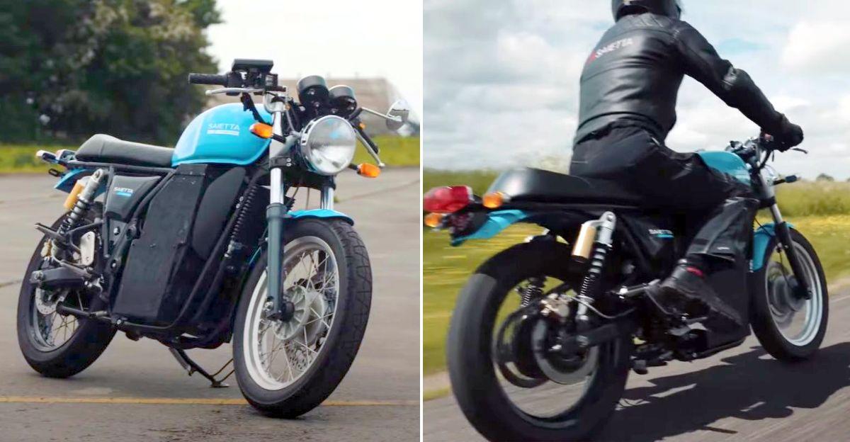 यूके के Saietta समूह ने Hero Xtreme और Royal Enfield Continental GT 650 को इलेक्ट्रिक बाइक में बदला
