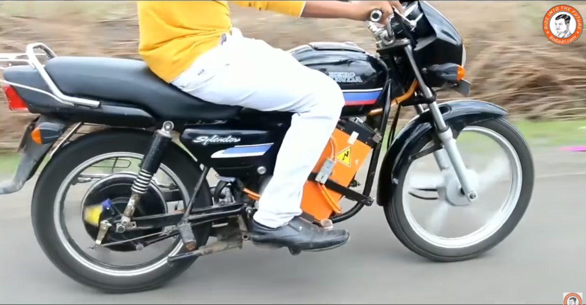 मोटरसाइकिलों के लिए भारत का पहला RTO स्वीकृत इलेक्ट्रिक कन्वर्जन किट [वीडियो]