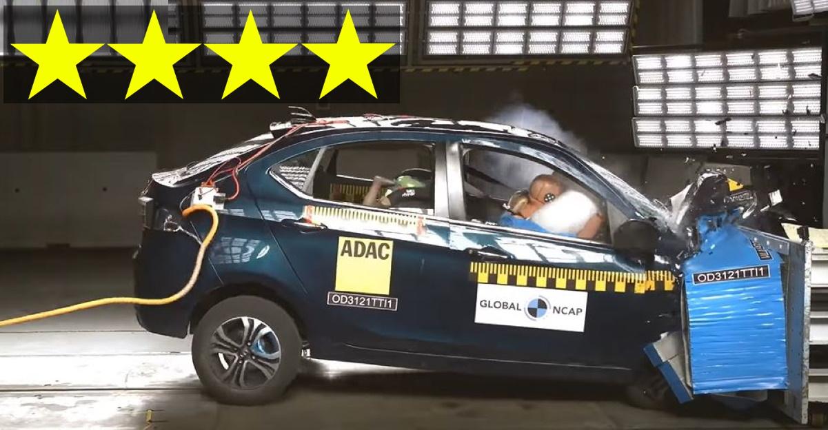 हाल ही में लॉन्च हुई Tata Tigor EV को ग्लोबल NCAP क्रैश टेस्ट में 4 स्टार सेफ्टी रेटिंग मिली है