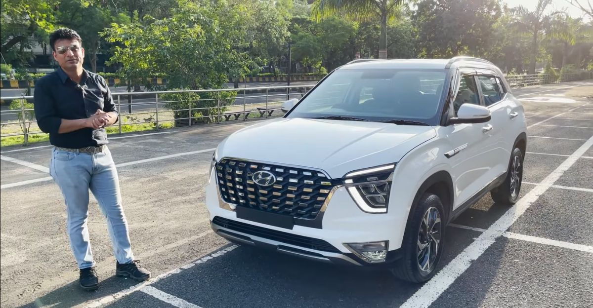 Alcazar फ्रंट ग्रिल के साथ संशोधित Hyundai Creta बेस E वेरिएंट साफ-सुथरा दिखता है