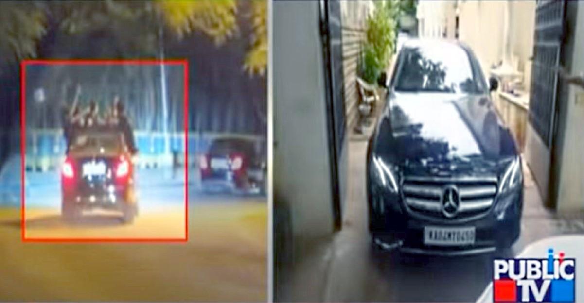 चलती कार में पार्टी करते युवक के पकड़े जाने के बाद बैंगलोर में Mercedes-Benz E-Class जब्त