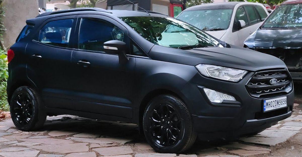 किलर लुक वाली Ford EcoSport मैट ब्लैक मैट